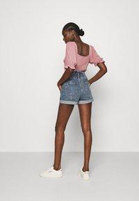 Abercrombie & Fitch - Denim shorts - stone-blue denim - 2