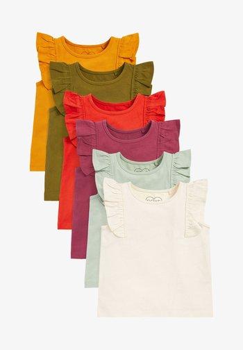6 PACK - Basic T-shirt - red