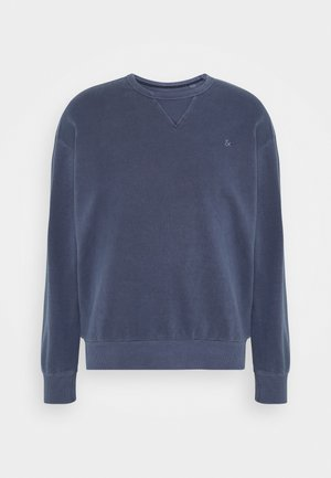 JJEWASHED CREW NECK - Collegepaita - navy blazer