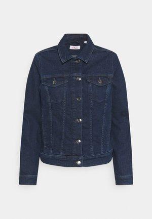 LANGARM - Denim jacket - dark blue