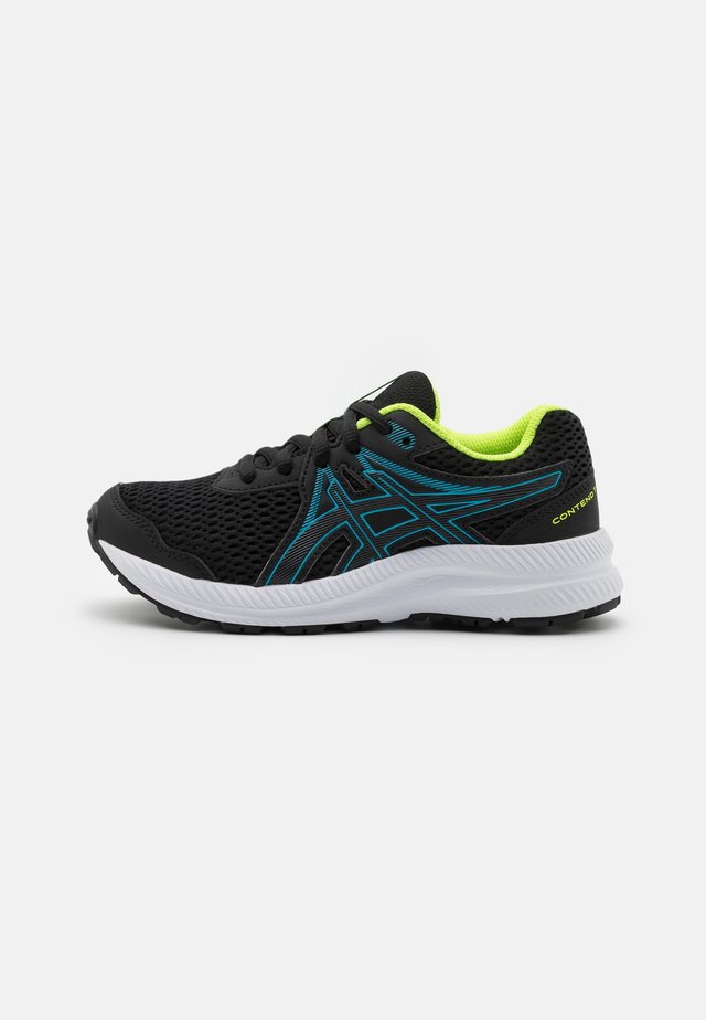 CONTEND 7 UNISEX - Neutral running shoes - black/digital aqua