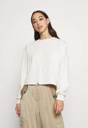 CROPPED DRAWSTRING - Sweatshirt - off white
