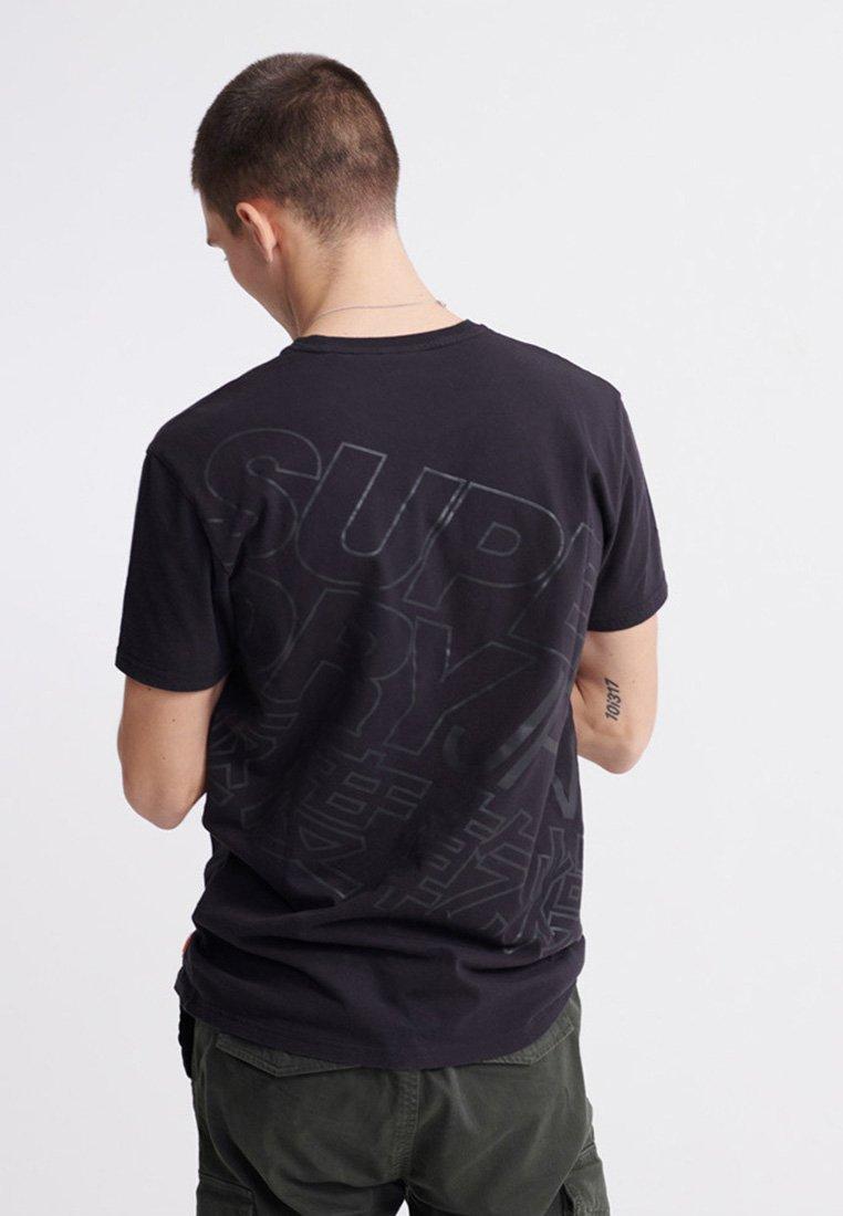 Superdry Camiseta estampada - black 20mP4