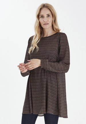Day dress - bison printed