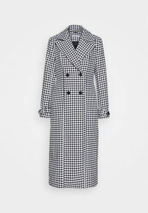 HOUNDSTOOTH COAT - Classic coat - black/white