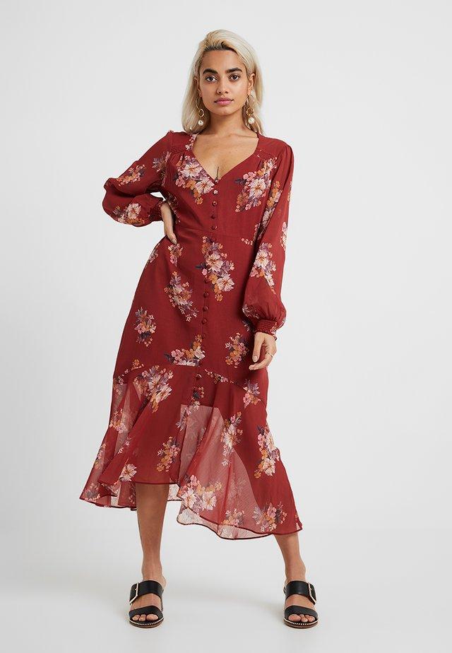 SAMMY MIDI DRESS - Blusenkleid - desert rose