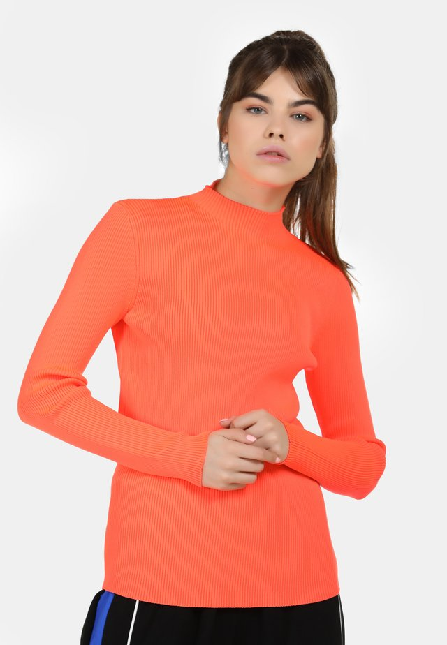 Neule - neon orange