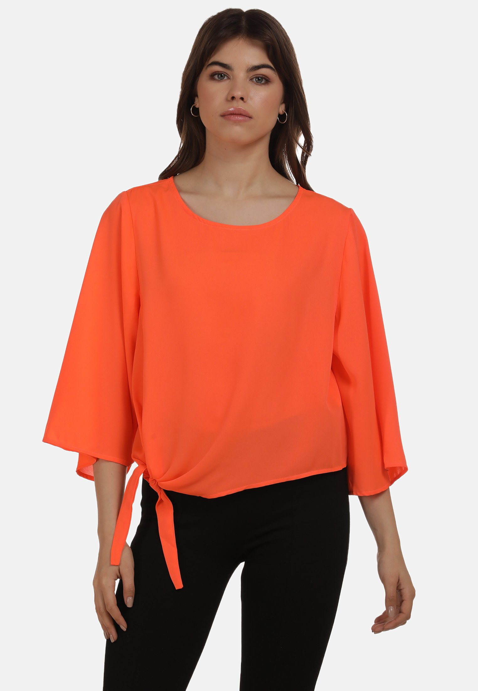New Women's Clothing myMo Blouse neon orange W4D0uCh4S