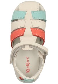 Kickers - Chaussures premiers pas - white/pink/blue - 1