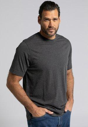 2 PACK - T-shirt basic - anthra-melange blau