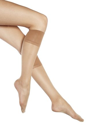 FALKE PURE MATT 20 DENIER KNIESTRÜMPFE TRANSPARENT MATT - Chaussettes hautes - powder