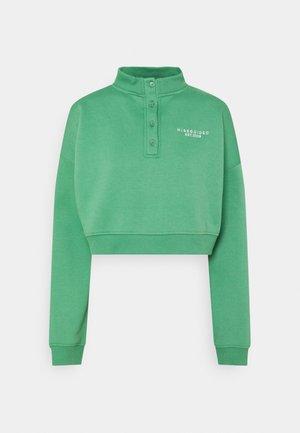 BUTTON RUNNER - Sweatshirt - green