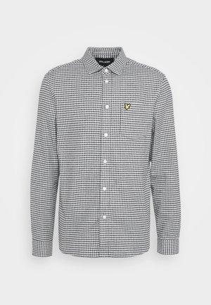 BRUSHED CHECK - Skjorta - mid grey marl