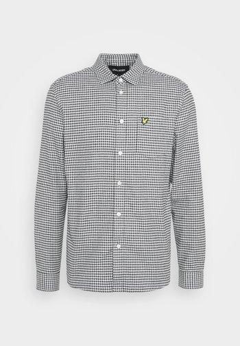 BRUSHED CHECK - Shirt - mid grey marl