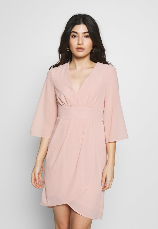 VIMICADA SLEEVE DRESS - Sukienka koktajlowa - pale mauve