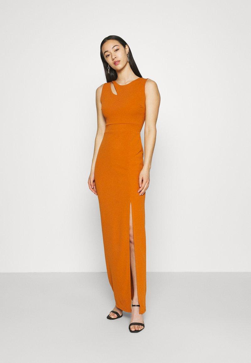 WAL G. - MELANIA CUT OUT DRESS - Společenské šaty - orange