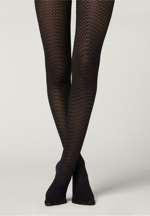 70 DENIER MIT - Leggings - Stockings - schwarz - 4687 - black chevron