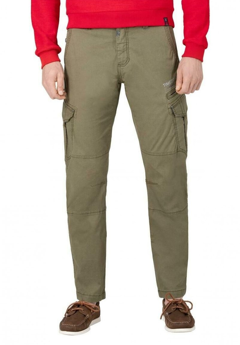 Timezone - Cargo trousers - muddy green