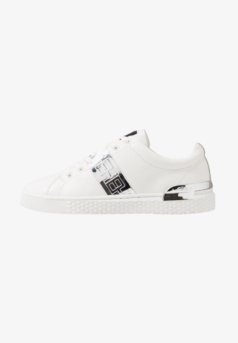Ed Hardy - STRIPE METALLIC - Sneakers - white/silver