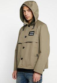 Diesel - J-KODORY JACKET - Short coat - beige/olive - 4
