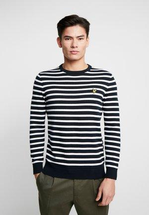 BRETON STRIPE JUMPER - Stickad tröja - dark navy/white