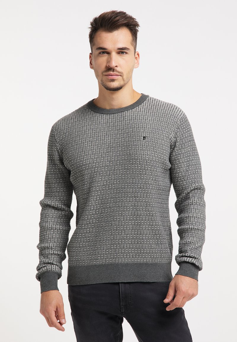 TUFFSKULL - Stickad tröja - dunkelgrau