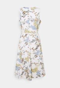 Lauren Ralph Lauren - TECH CREPE DRESS - Robe en jersey - cream/blue - 1