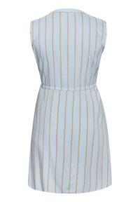 Kaffe Curve - Sukienka koszulowa - chambray blue / sand stripe - 4