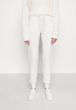 PANTS LOGO - Tracksuit bottoms - off white