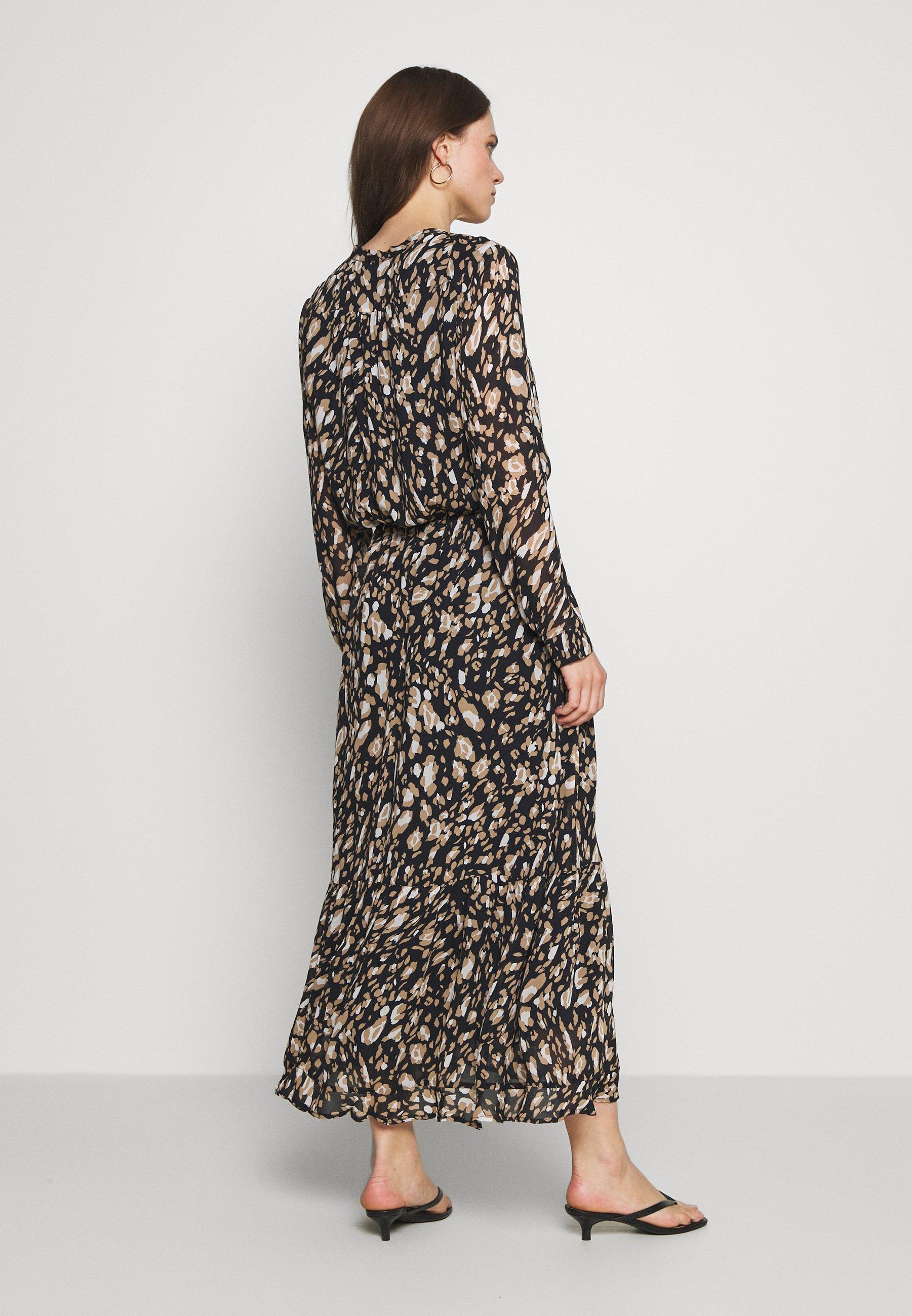 InWear CLARICE DRESS Maxikleid black/mehrfarbig