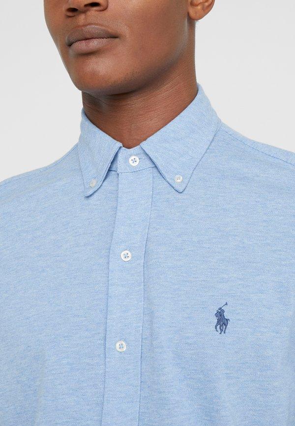 Polo Ralph Lauren LONG SLEEVE - Koszula - jamaica heather/jasnoniebieski Odzież Męska NTNS