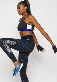 adidas Performance - VARSITY BRA - Urheiluliivit: keskitason tuki - black - 4