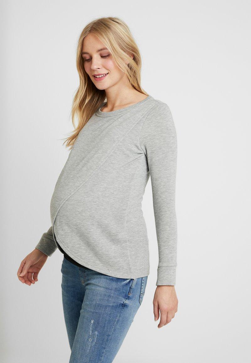 MAMALICIOUS - MLCHRISTIANE IRIS  - Långärmad tröja - light grey melange