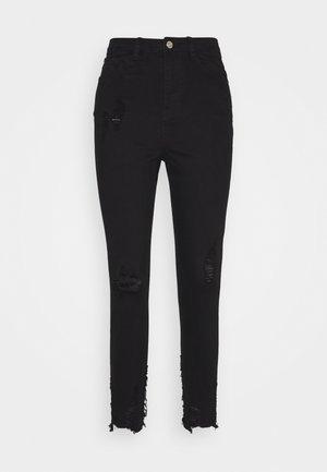 SINNER HIGHWAISTED DESTROYED - Jeans Skinny Fit - black
