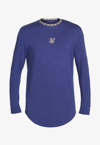 SIKSILK - SIKSILK LONG SLEEVE TAPE COLLAR GYM TEE - Long sleeved top - navy/gold - 3