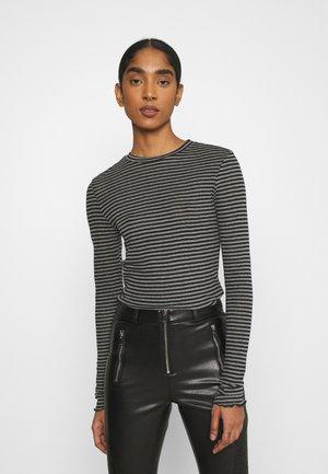 VMOLINE - T-shirt à manches longues - medium grey melange/black