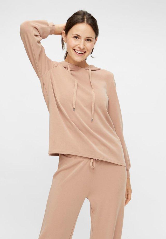 Bluza z kapturem - warm taupe