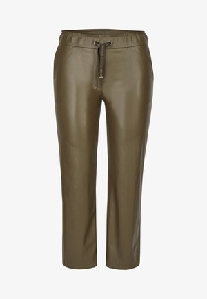 Leather trousers - olive