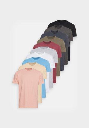 10 PACK  - Jednoduché triko - multi mix color