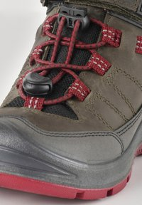 Keen - REDWOOD MID WP - Lace-up ankle boots - steel grey/red dahlia - 5