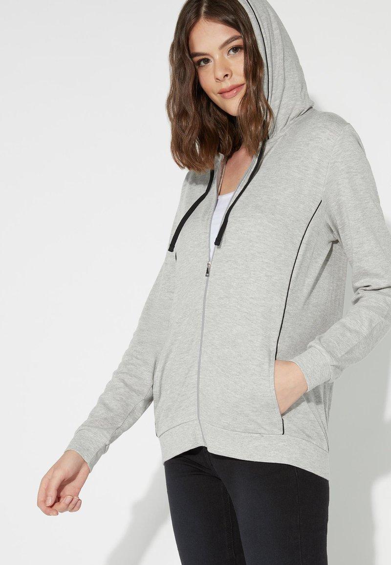Tezenis - Zip-up hoodie - grigio mel.chiaro/nero