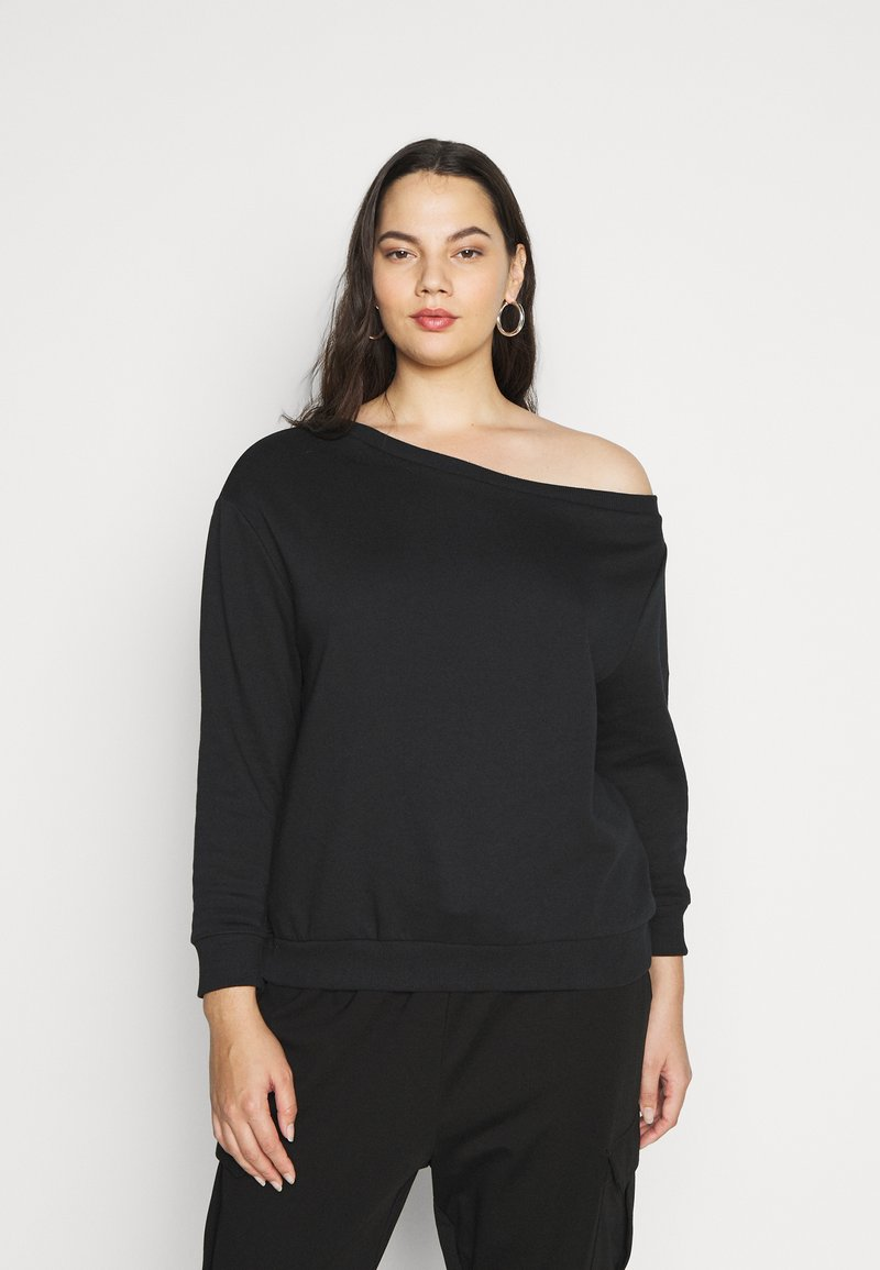 Even&Odd Curvy - Sweatshirt - black