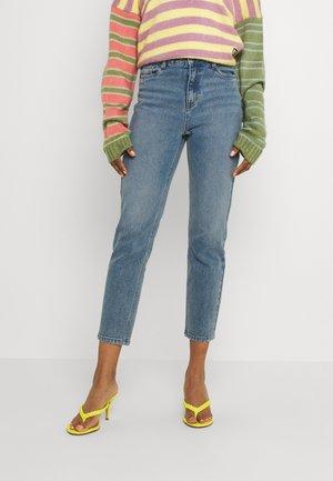 OBJALORA  - Jeans straight leg - medium blue denim
