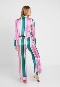 Hesper Fox - EVIE PRINT BOTTOMS - Pyjama bottoms - pink/dark blue/white - 2