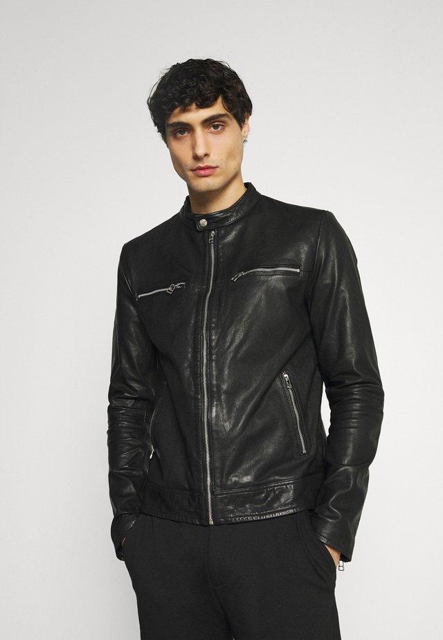 KYLL BIKER - Veste en cuir - black