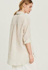 Opus - FYTHON RAW - Button-down blouse - beige - 1