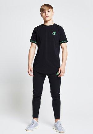 T-shirt print - black  neon green