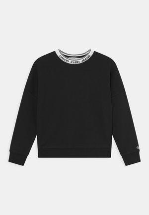 INTARSIA LOGO  - Sweatshirt - black