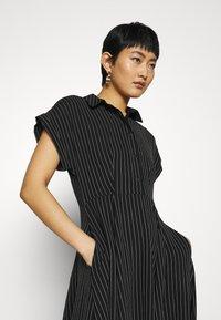 Closet - CLOSET FULL SKIRT SHIRT DRESS - Paitamekko - black - 3