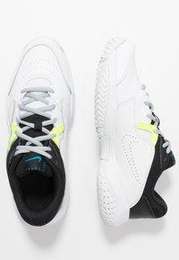 Nike Performance - COURT Jr.  LITE 2 UNISEX - Multicourt tennis shoes - white/neo turquoise/hot lime/light smoke grey - 0